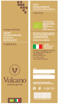 D'OLIVA EXTRAVERGINE BIOLOGICO CAROLEA
