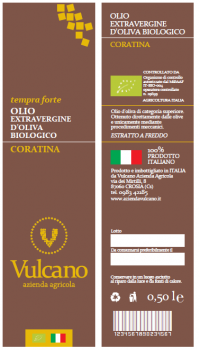 OLIO EXTRAVERGINE D'OLIVA BIOLOGICO CORATINA