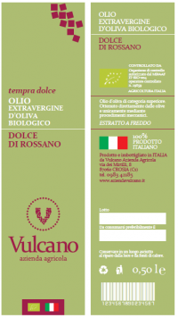 OLIO EXTRAVERGINE D'OLIVA BIOLOGICO DOLCE DI ROSSANO